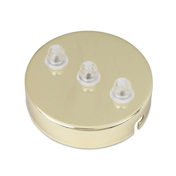 deckenbaldachin lampen baldachin eisen metall messing 3-loch mehrere löcher auslässe bajonettverschluss
