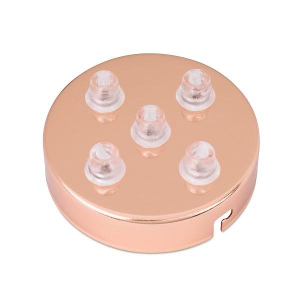 deckenbaldachin lampen baldachin eisen metall kupfer 5-loch mehrere löcher auslässe bajonettverschluss