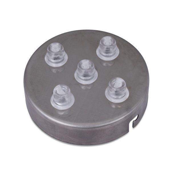 deckenbaldachin lampen baldachin eisen metall poliert 5-loch mehrere löcher auslässe bajonettverschluss