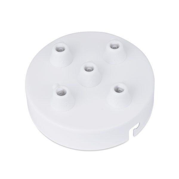 deckenbaldachin lampen baldachin eisen metall weiß 5-loch mehrere löcher auslässe bajonettverschluss