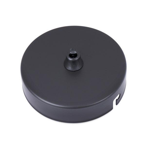 deckenbaldachin eisen metall schwarz pulverbeschichtet zugentlastung einem auslass bajonettverschluss