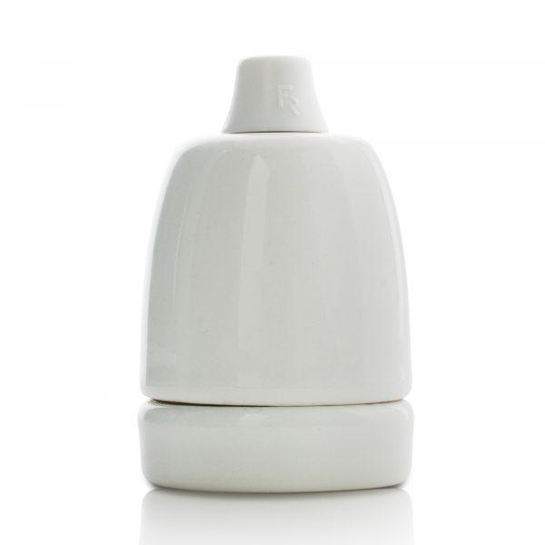e27 fassung porzellan keramik zugentlastung weiß glasiert