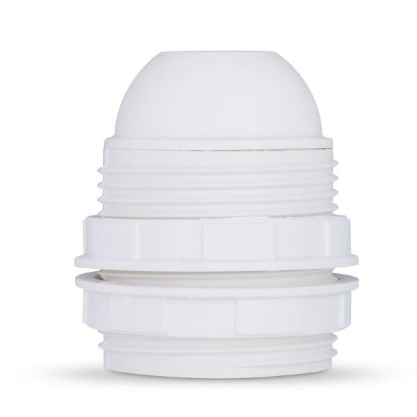 retro lampenfassung e27 thermoplast kunststoff weiß gewindemantel