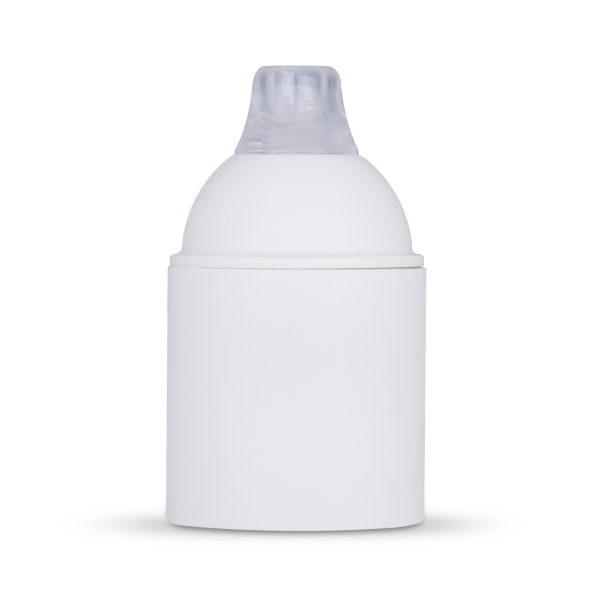 retro lampenfassung e27 thermoplast kunststoff weiß glattmantel zugentlastung