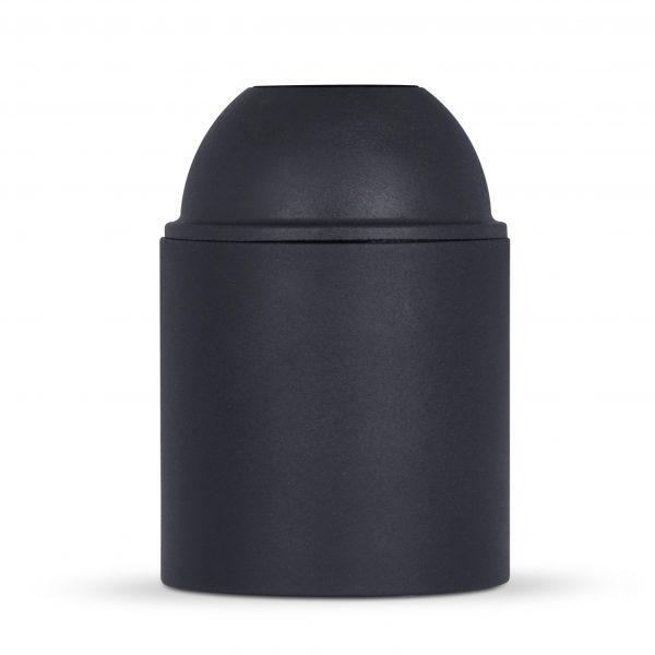 retro lampenfassung e27 thermoplast kunststoff schwarz glattmantel