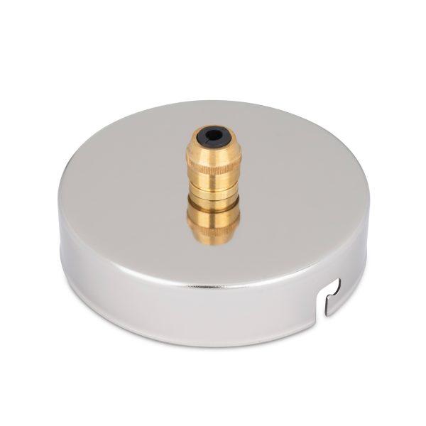 deckenbaldachin lampen baldachin eisen metall nickel zugentlastung messing zentraler auslass bajonettverschluss