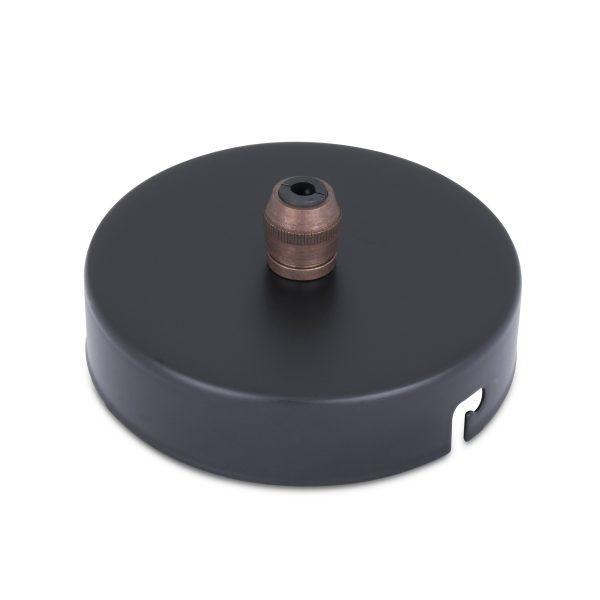 deckenbaldachin lampen baldachin eisen metall schwarz pulverbeschichtet zugentlastung messing old english zentraler auslass bajonettverschluss
