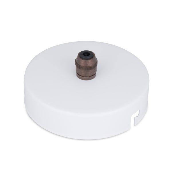 deckenbaldachin lampen baldachin eisen metall weiß pulverbeschichtet zugentlastung messing old english zentraler auslass bajonettverschluss