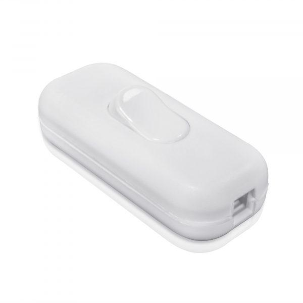 Weiß Zwischenschalter 1 polig 2A 250V