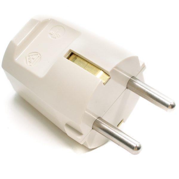 schutzkontakt stecker schuko-stecker bakelit duroplast wandstecker 16a elfenbein weiß