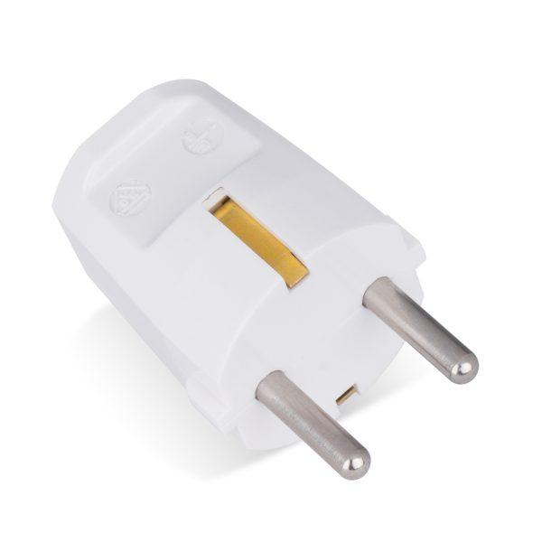 schutzkontakt stecker schuko-stecker bakelit duroplast wandstecker 16a weiß