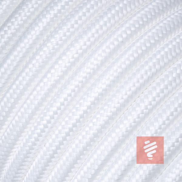 textilkabel stoffkabel schlauchleitung stoffummantelt textilummantelt pvc-kabel rundkabel h03vv-f 3g 0.75 3x0.75mm 3-adrig dreiadrig weiß