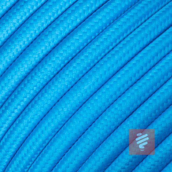 textilkabel stoffkabel schlauchleitung stoffummantelt textilummantelt pvc-kabel rundkabel h03vv-f 2G 0.75 2x0.75mm 2-adrig zweiadrig blau himmelblau