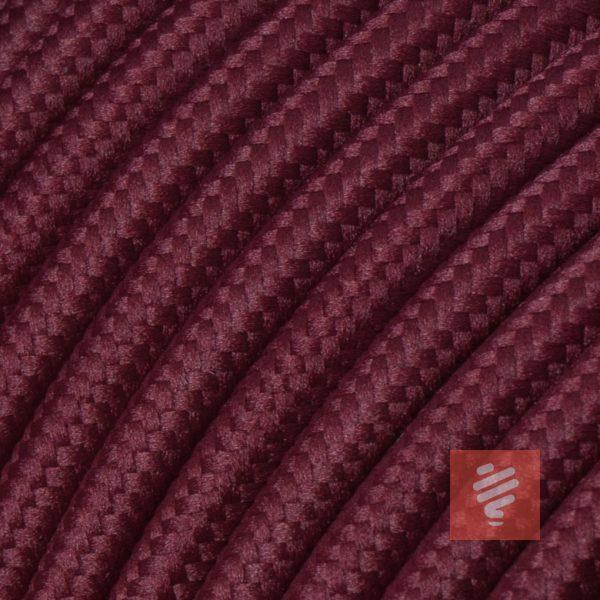 textilkabel stoffkabel schlauchleitung stoffummantelt textilummantelt pvc-kabel rundkabel h03vv-f 2G 0.75 2x0.75mm 2-adrig zweiadrig bordeaux-rot weinrot