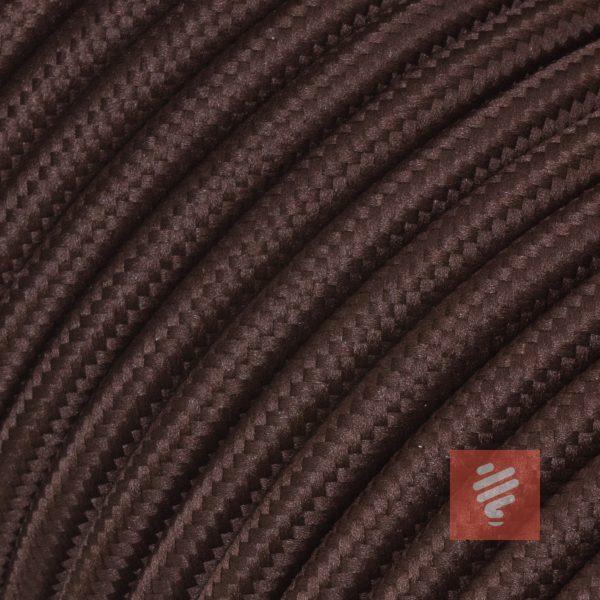 textilkabel stoffkabel schlauchleitung stoffummantelt textilummantelt pvc-kabel rundkabel h03vv-f 3g 0.75 3x0.75mm 3-adrig dreiadrig braun