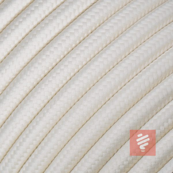textilkabel stoffkabel schlauchleitung stoffummantelt textilummantelt pvc-kabel rundkabel h03vv-f 3g 0.75 3x0.75mm 3-adrig dreiadrig creme-weiß