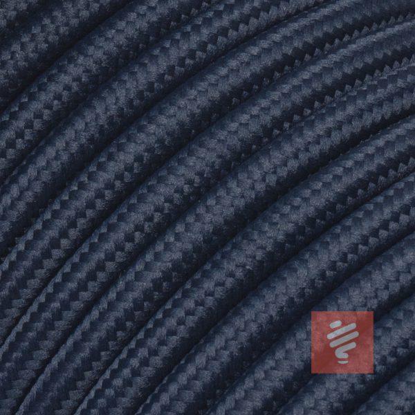 textilkabel stoffkabel schlauchleitung stoffummantelt textilummantelt pvc-kabel rundkabel h03vv-f 3g 0.75 3x0.75mm 3-adrig dreiadrig dunkelblau navy