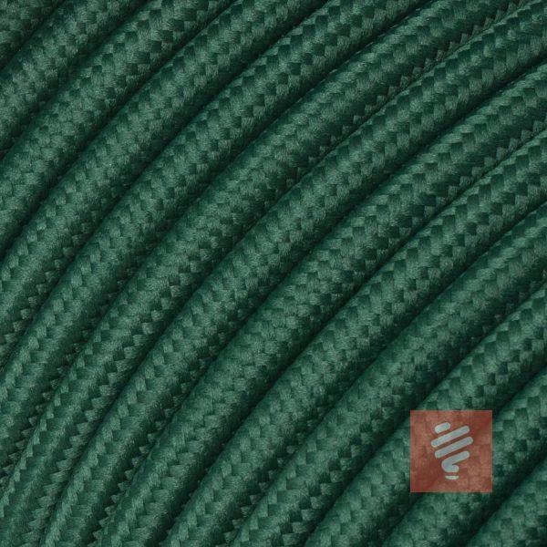 textilkabel stoffkabel schlauchleitung stoffummantelt textilummantelt pvc-kabel rundkabel h03vv-f 3g 0.75 3x0.75mm 3-adrig dreiadrig dunkelgrün