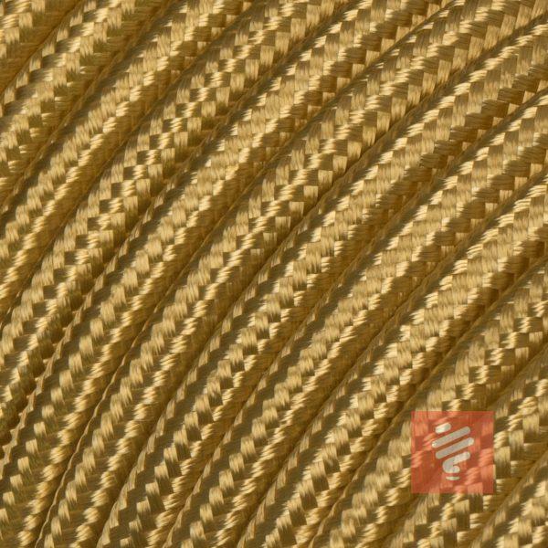 textilkabel stoffkabel schlauchleitung stoffummantelt textilummantelt pvc-kabel rundkabel h03vv-f 2G 0.75 2x0.75mm 2-adrig zweiadrig gold