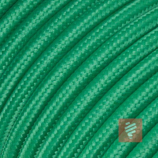 textilkabel stoffkabel schlauchleitung stoffummantelt textilummantelt pvc-kabel rundkabel h03vv-f 2G 0.75 2x0.75mm 2-adrig zweiadrig grün