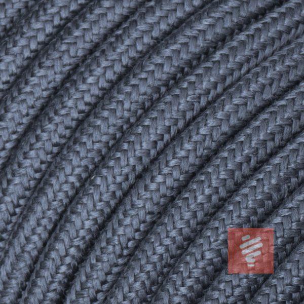 textilkabel stoffkabel schlauchleitung stoffummantelt textilummantelt pvc-kabel rundkabel h03vv-f 3g 0.75 3x0.75mm 3-adrig dreiadrig grau graphit