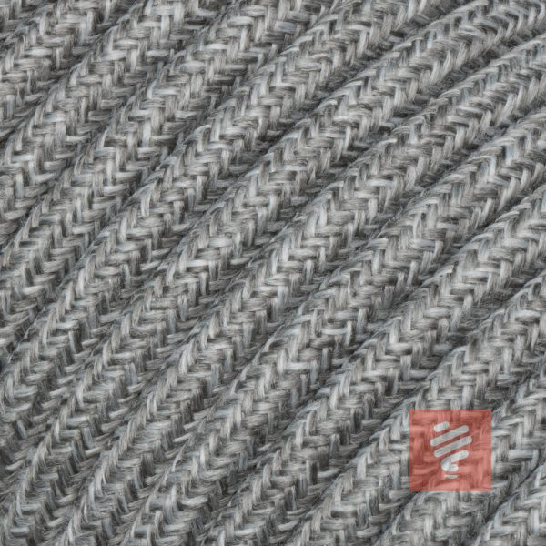 textilkabel stoffkabel schlauchleitung stoffummantelt textilummantelt pvc-kabel rundkabel h03vv-f 3g 0.75 3x0.75mm 3-adrig dreiadrig grau-melange