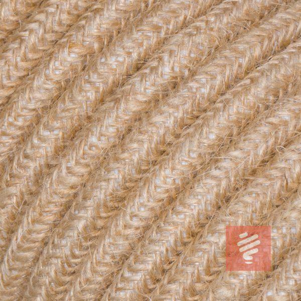 textilkabel stoffkabel schlauchleitung stoffummantelt textilummantelt pvc-kabel rundkabel h03vv-f 3g 0.75 3x0.75mm 3-adrig dreiadrig jute
