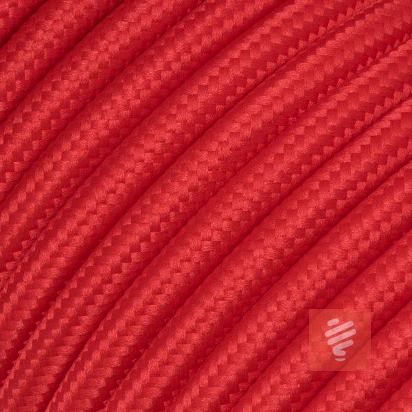 textilkabel stoffkabel schlauchleitung stoffummantelt textilummantelt pvc-kabel rundkabel h03vv-f 3g 0.75 3x0.75mm 3-adrig dreiadrig rot