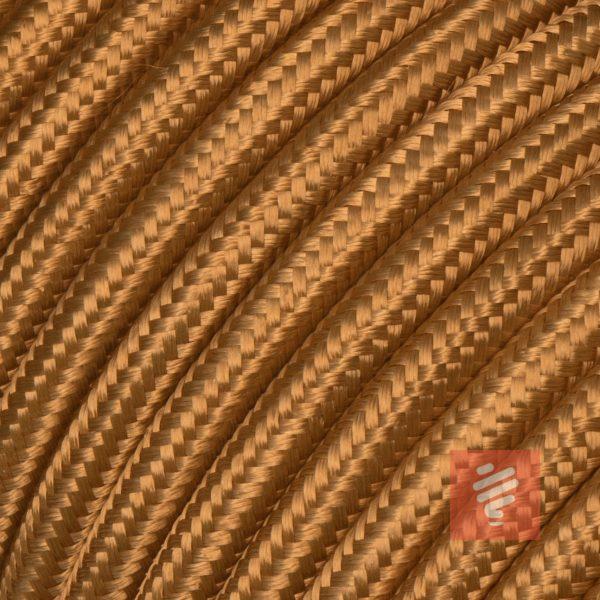 textilkabel stoffkabel schlauchleitung stoffummantelt textilummantelt pvc-kabel rundkabel h03vv-f 3g 0.75 3x0.75mm 3-adrig dreiadrig hellbraun