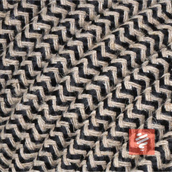 textilkabel stoffkabel schlauchleitung stoffummantelt textilummantelt pvc-kabel rundkabel h03vv-f 3g 0.75 3x0.75mm 3-adrig dreiadrig leinen-schwarz