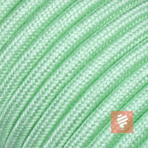 textilkabel stoffkabel schlauchleitung stoffummantelt textilummantelt pvc-kabel rundkabel h03vv-f 3g 0.75 3x0.75mm 3-adrig dreiadrig minz-grün minze
