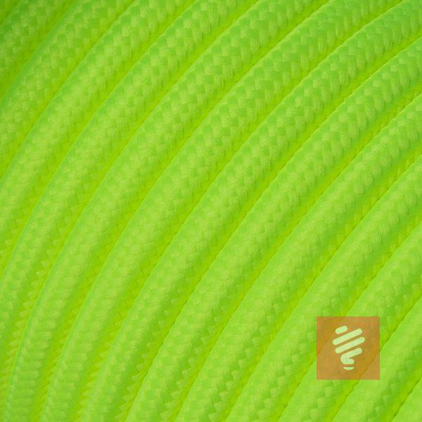 textilkabel stoffkabel schlauchleitung stoffummantelt textilummantelt pvc-kabel rundkabel h03vv-f 2G 0.75 2x0.75mm 2-adrig zweiadrig neongelb