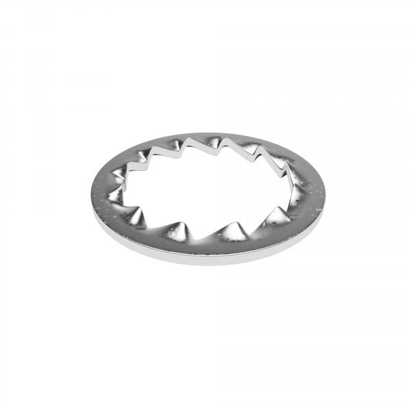Zahnscheibe aus Eisen mit Innendurchmesser 10,5mm, innenverzahnt, verzinkt, Fächerscheibe 14 x 10.5 x 0.5mm