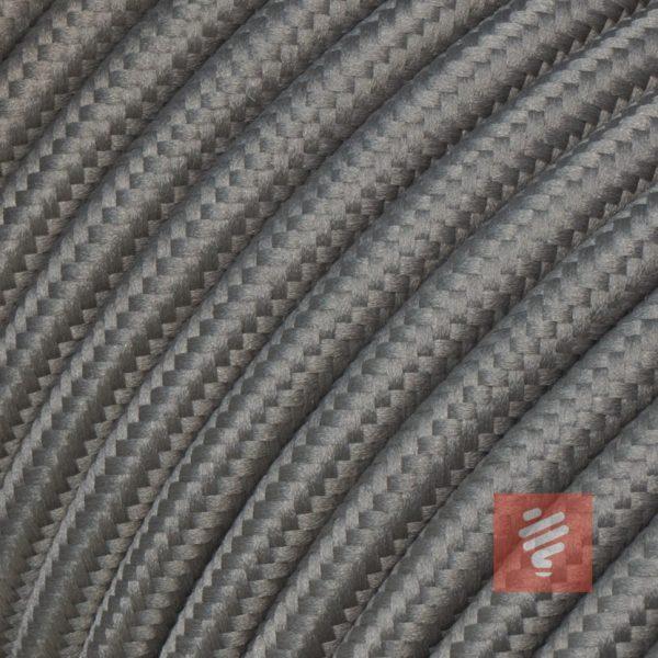 textilkabel stoffkabel schlauchleitung stoffummantelt textilummantelt pvc-kabel rundkabel h03vv-f 3g 0.75 3x0.75mm 3-adrig dreiadrig grau