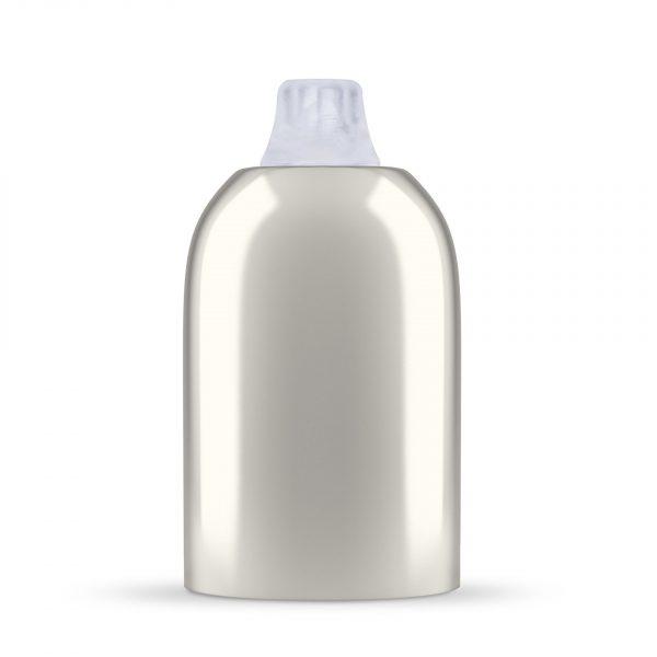 Fassungshülse aus Metall inkl. Lampenfassung E27 | Nickel, inkl. Zugentlastung Kunststoff