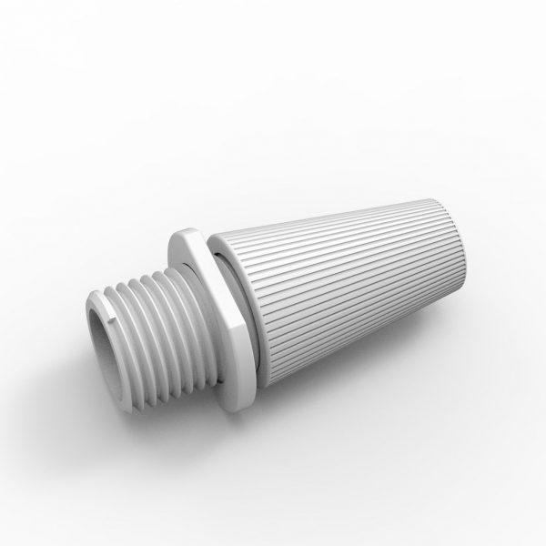 auch f/ür Textilkabel geeignet Klemmnippel Zugentlastung M10x1 transparent