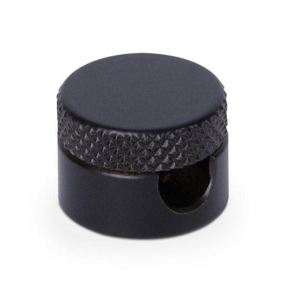 Aufputz-Kabelhalter aus Messing (SCHWARZ beschichtet), Kabelaufhängung für Textilkabel