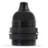 retro lampenfassung e27 bakelit kunststoff schwarz gewindemantel zugentlastung