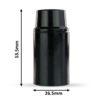 retro lampenfassung e14 dimensionen abmessungen bakelit kunststoff schwarz glattmantel