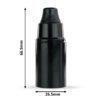 retro lampenfassung e14 dimensionen abmessungen bakelit kunststoff schwarz glattmantel zugentlastung