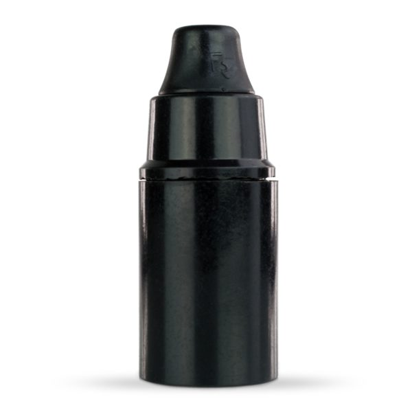 retro lampenfassung e14 bakelit kunststoff schwarz glattmantel zugentlastung