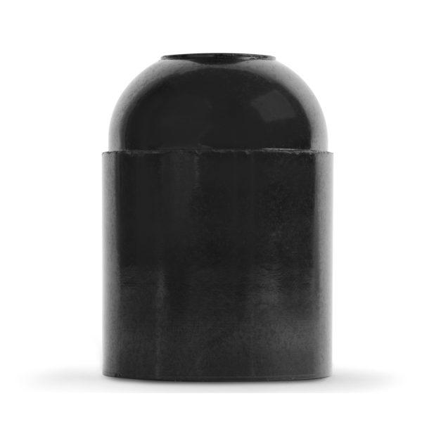 retro lampenfassung e27 bakelit kunststoff schwarz glattmantel
