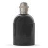 retro lampenfassung e27 bakelit kunststoff schwarz glattmantel zugentlastung messing nickel