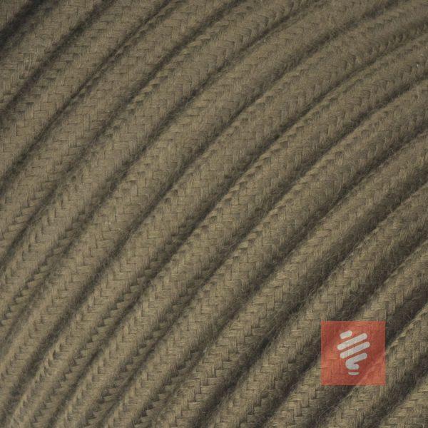 textilkabel stoffkabel schlauchleitung stoffummantelt textilummantelt pvc-kabel rundkabel h03vv-f 3g 0.75 3x0.75mm 3-adrig dreiadrig forest