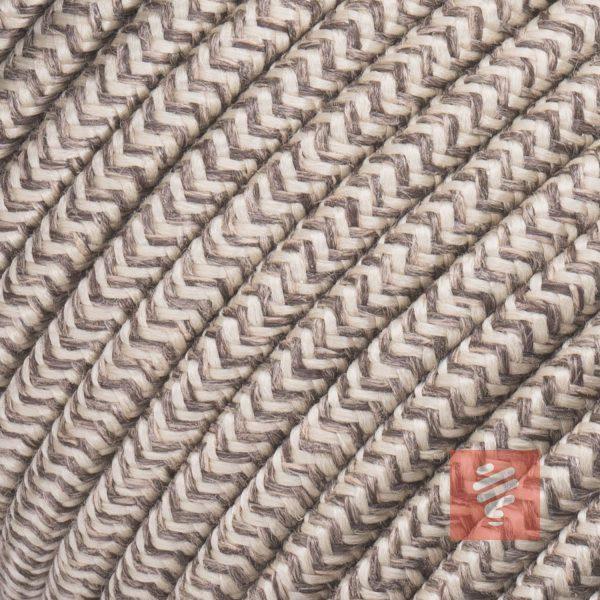 textilkabel stoffkabel schlauchleitung stoffummantelt textilummantelt pvc-kabel rundkabel h03vv-f 3g 0.75 3x0.75mm 3-adrig dreiadrig leinen-braun