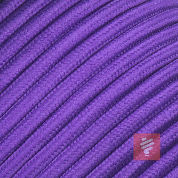 textilkabel stoffkabel schlauchleitung stoffummantelt textilummantelt pvc-kabel rundkabel h03vv-f 3g 0.75 3x0.75mm 3-adrig dreiadrig violett