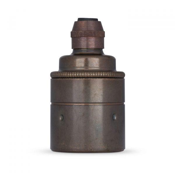 Lampenfassung E27 Vintage Messing Old English für Elektrokabel oder Textilkabel