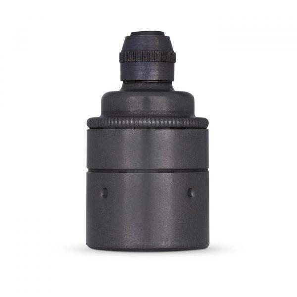 Lampenfassung E27 Vintage Messing schwarz brüniert für Elektrokabel oder Textilkabel
