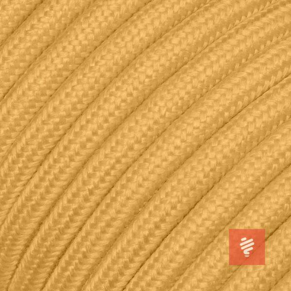 Textilkabel für Lampe, Rundkabel, zweiadrig (2×0.75mm²), Gold