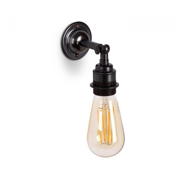 Wandleuchte aus Messing Bronze Antik im Antik & Vintage Stil E27 mit Gelenk und ST64 LED Leuchtmittel, Relight Bacon Bow